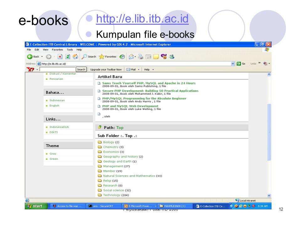 Perpustakaan Pusat ITB 2008
