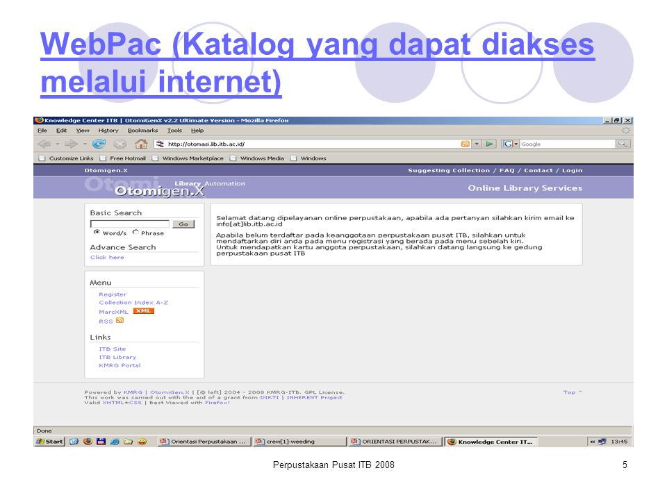 WebPac (Katalog yang dapat diakses melalui internet)
