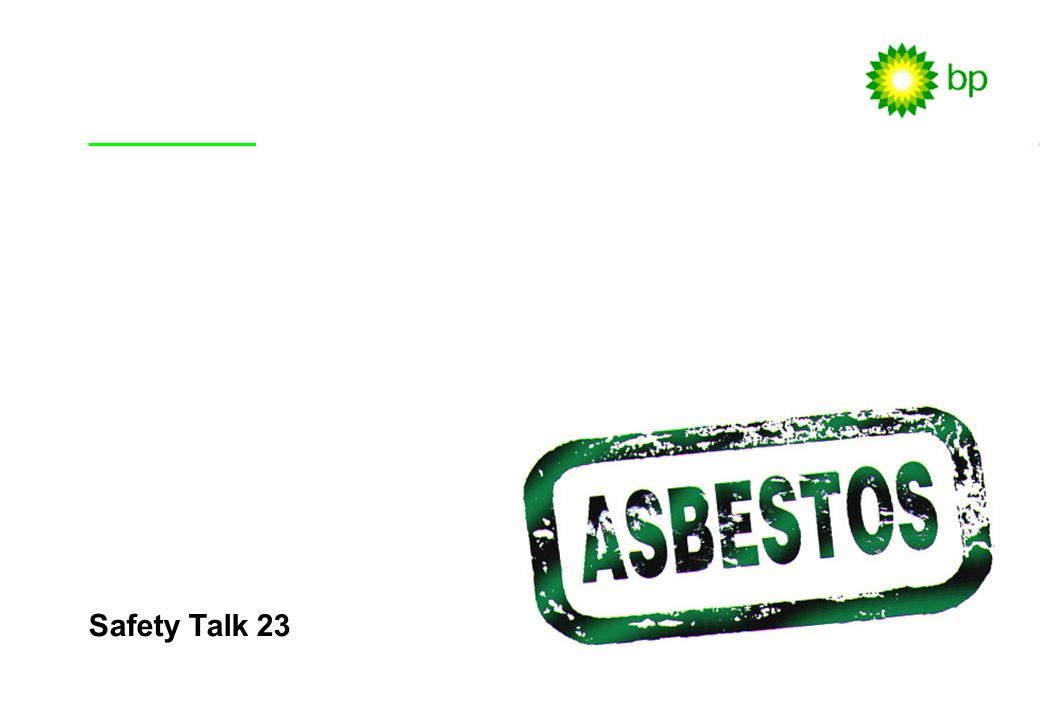 Safety Talk 23 Safety Talk Objectives (Slide 1)