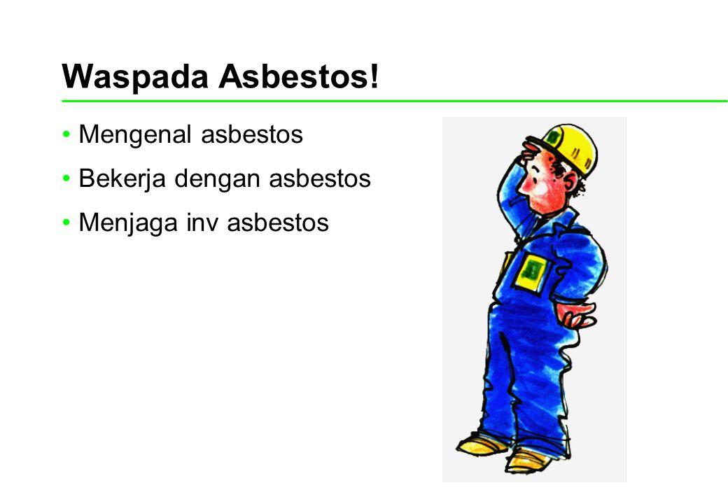 Waspada Asbestos! Mengenal asbestos Bekerja dengan asbestos