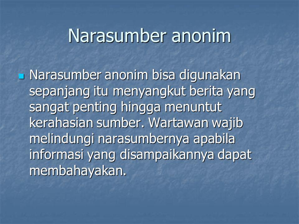 Narasumber anonim