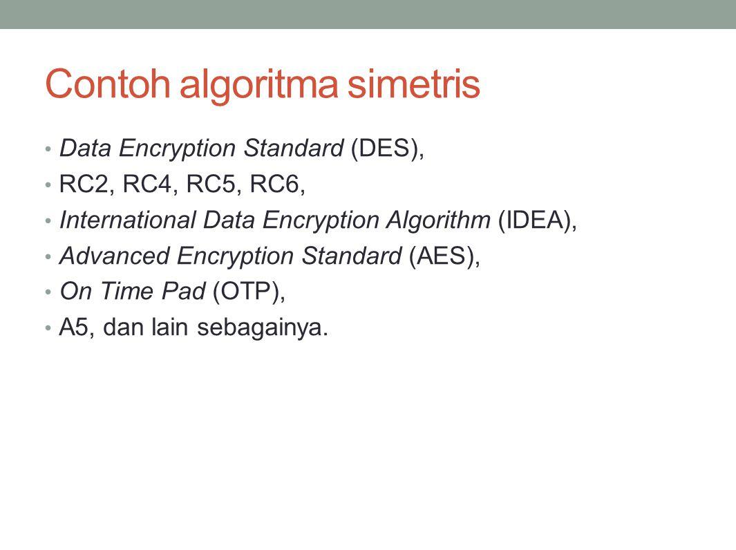 Contoh algoritma simetris