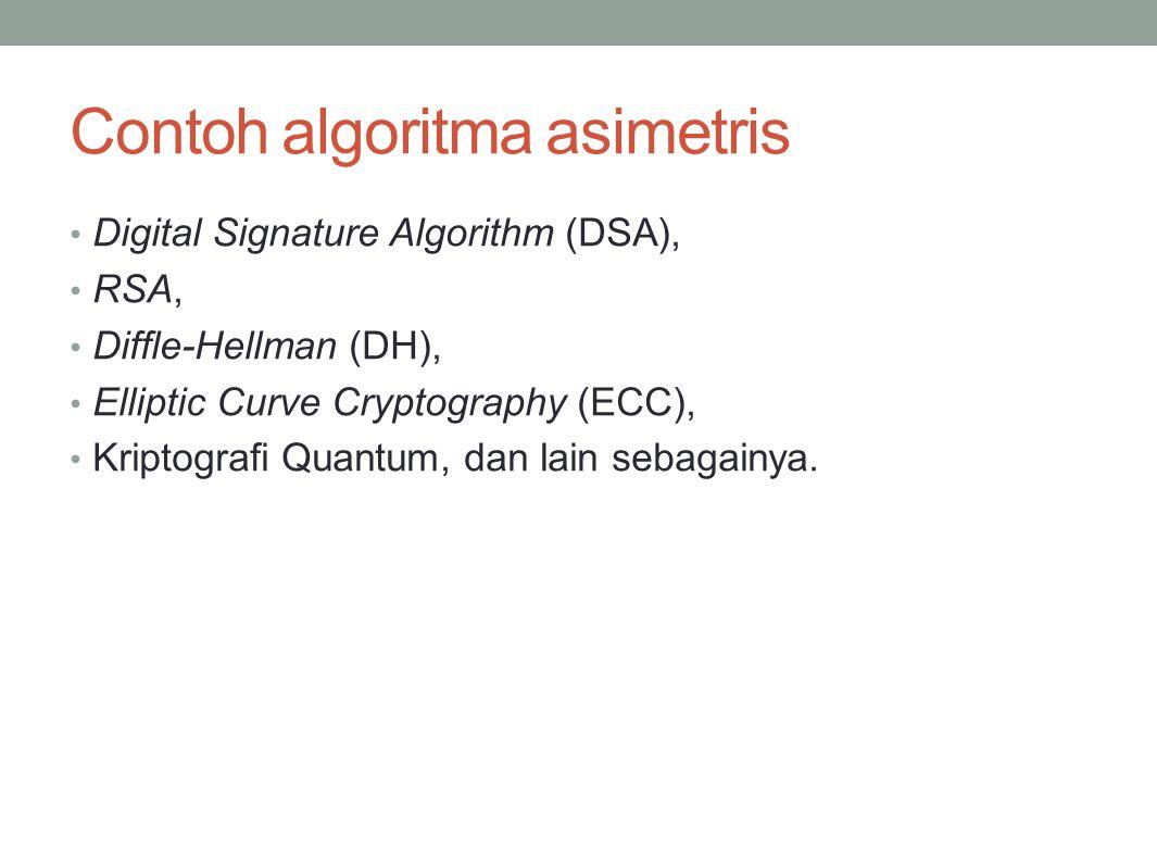 Contoh algoritma asimetris