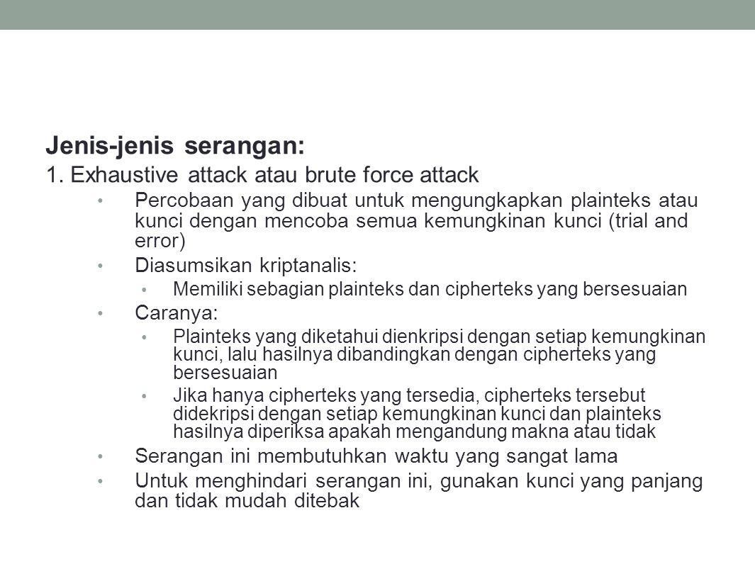 Jenis-jenis serangan: