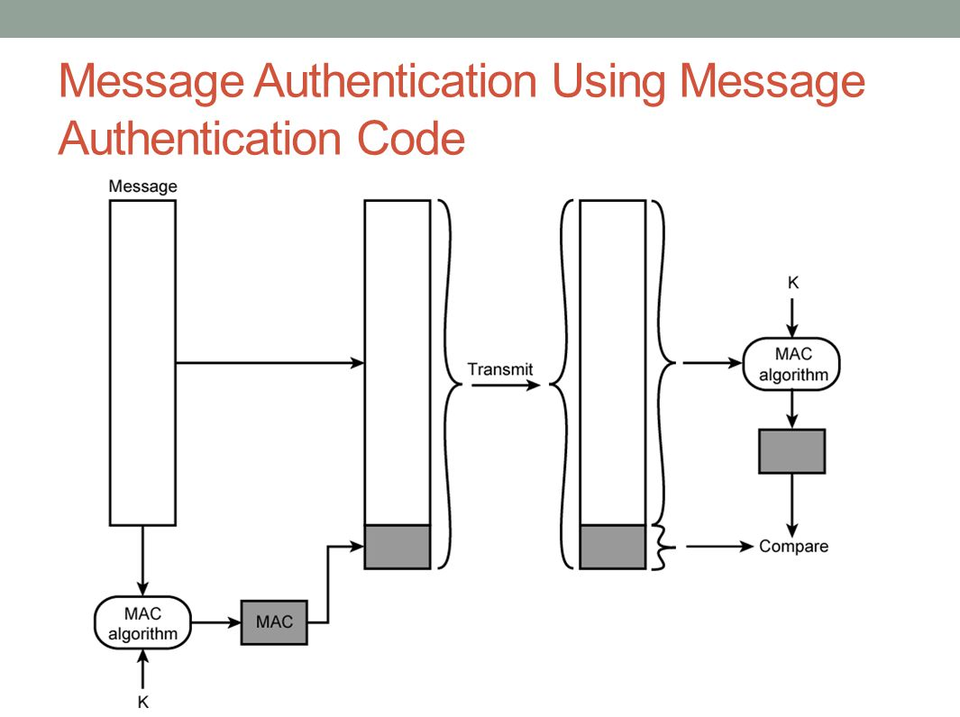 Message Authentication Using Message Authentication Code