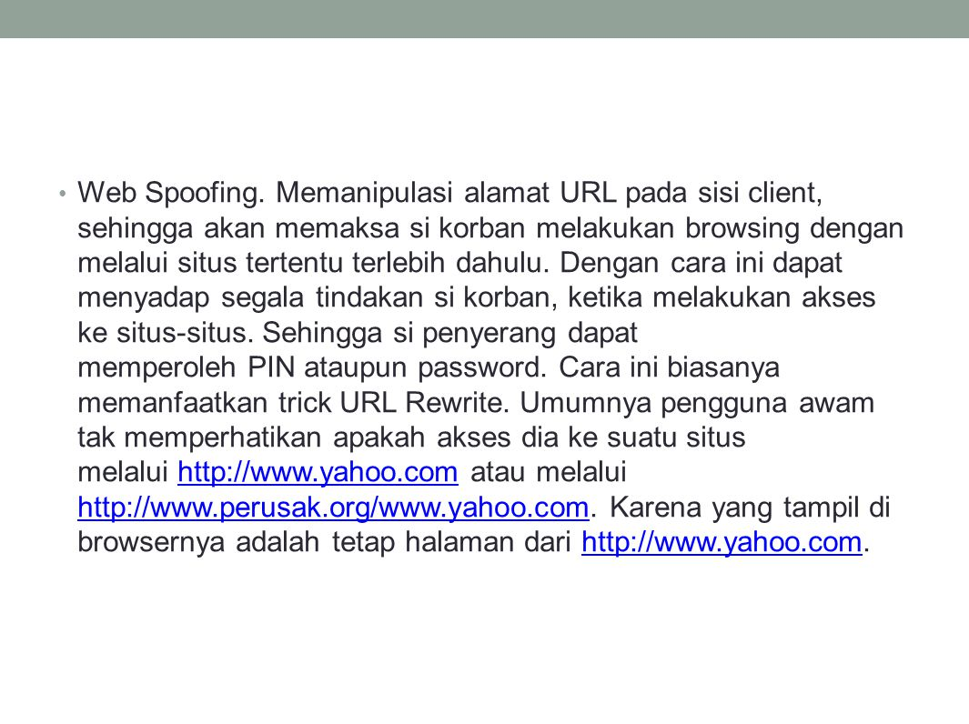 Web Spoofing.