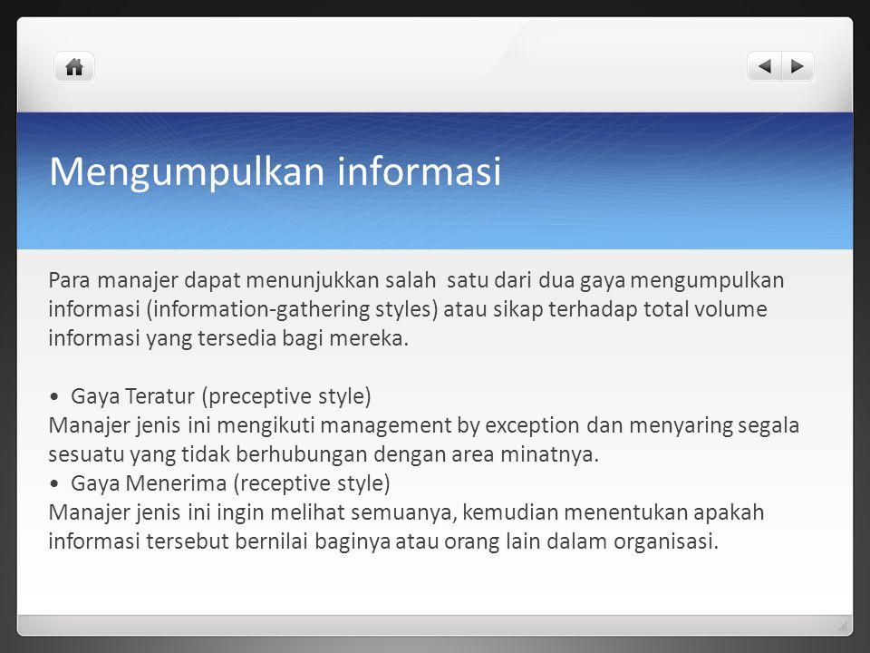 Mengumpulkan informasi