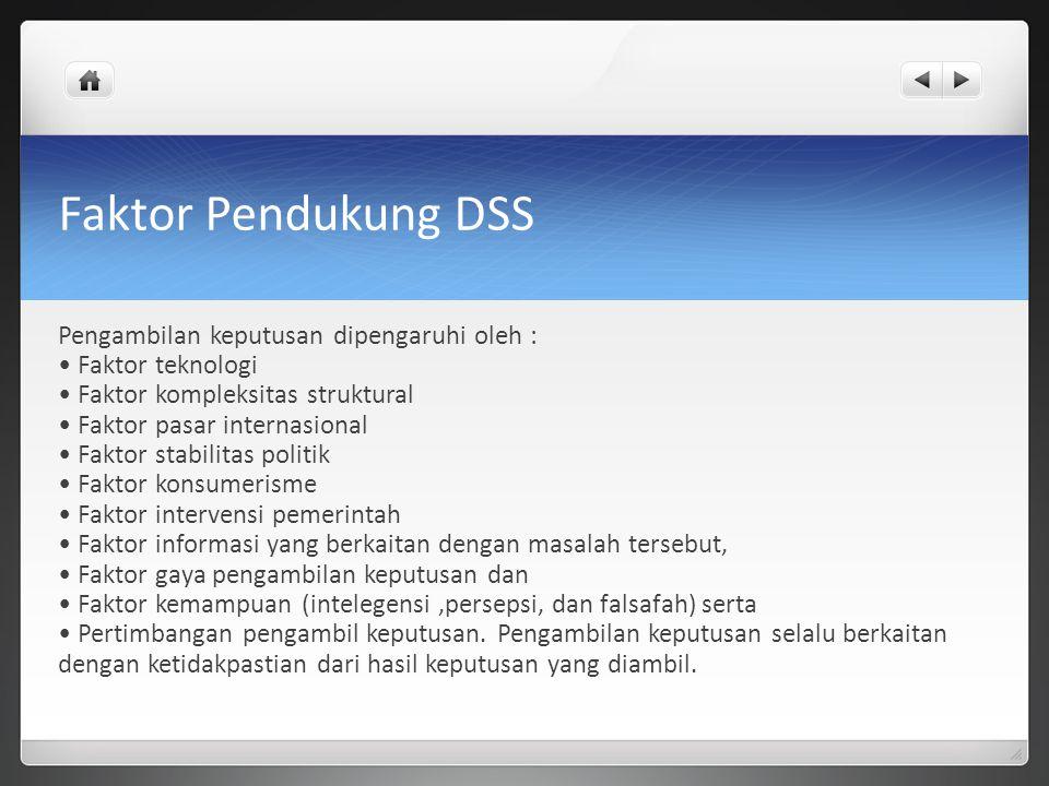 Faktor Pendukung DSS