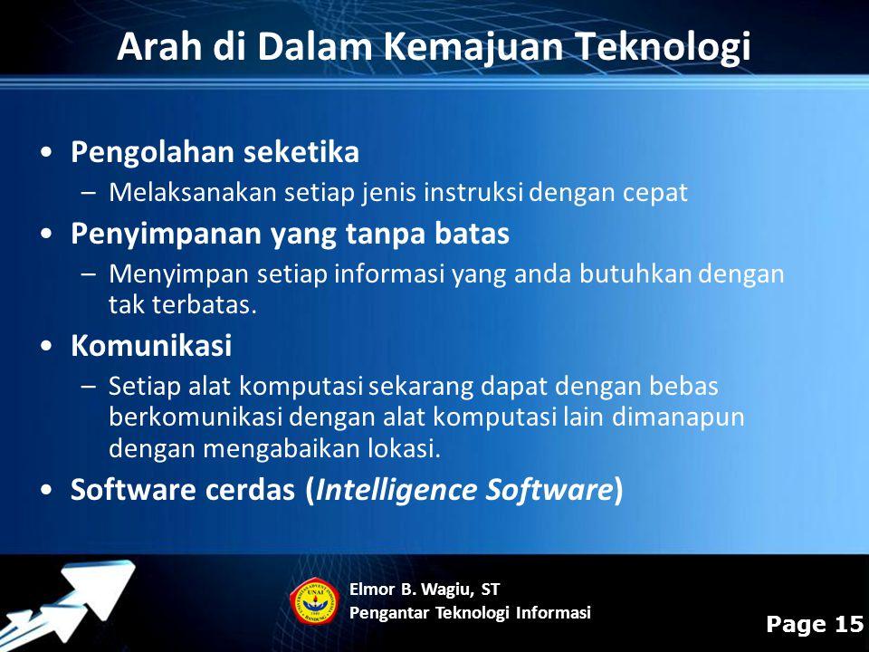 Arah di Dalam Kemajuan Teknologi