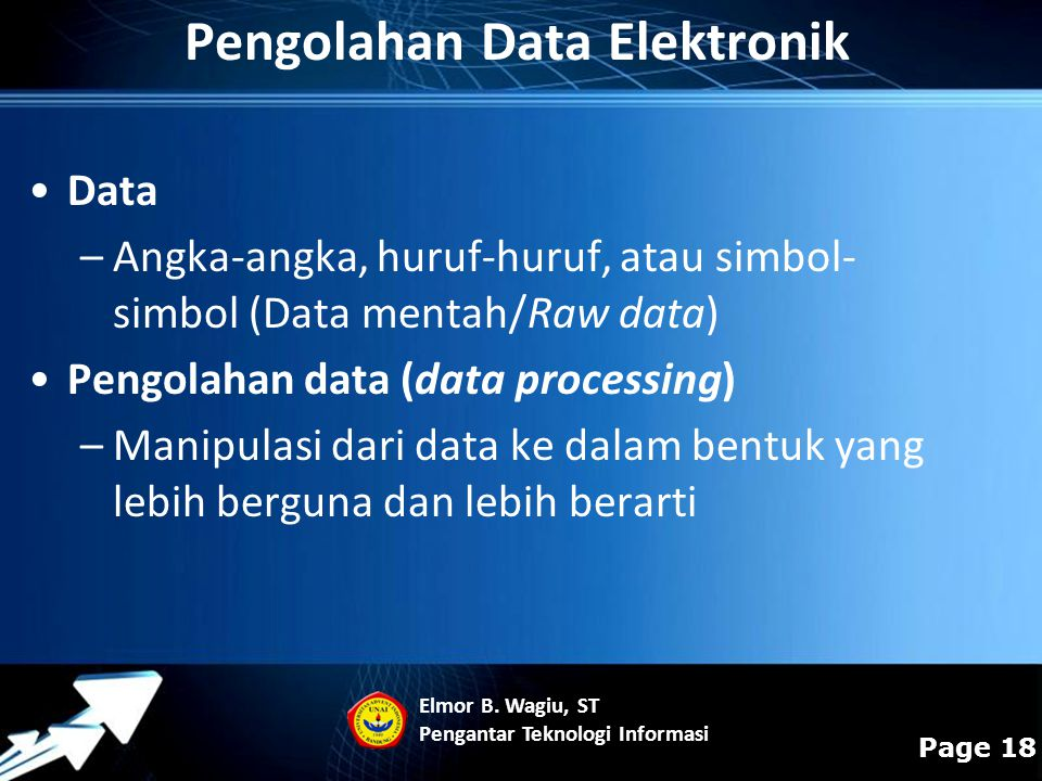 Pengolahan Data Elektronik