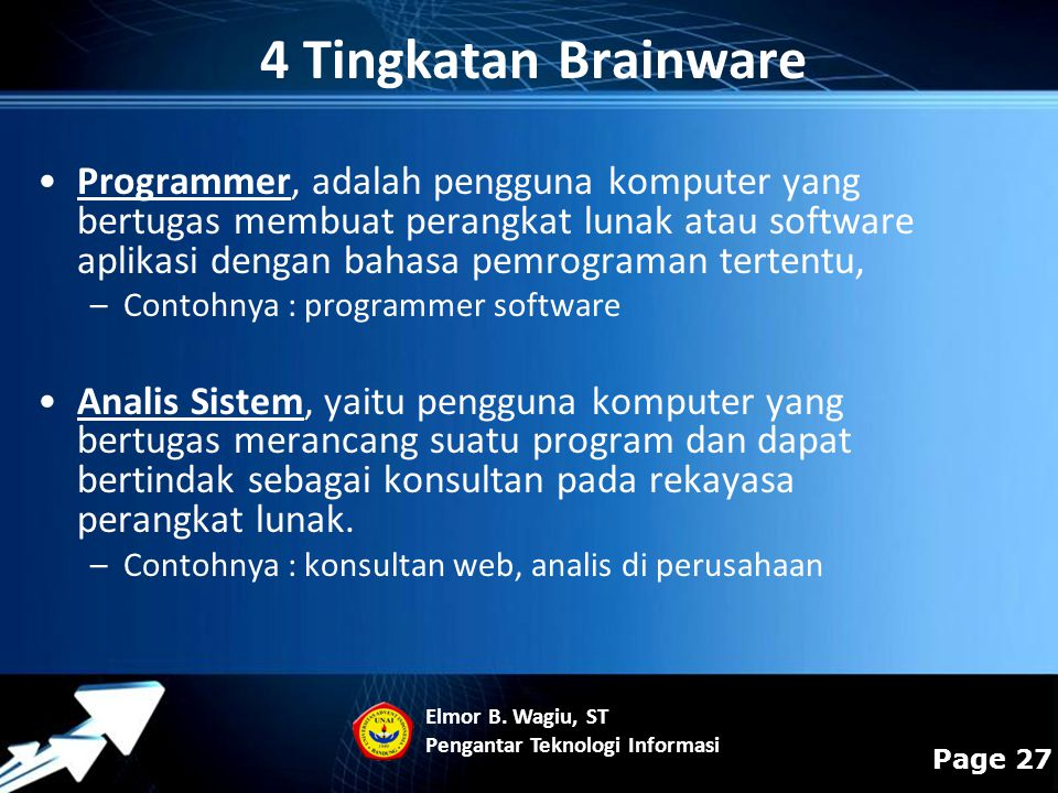 4 Tingkatan Brainware