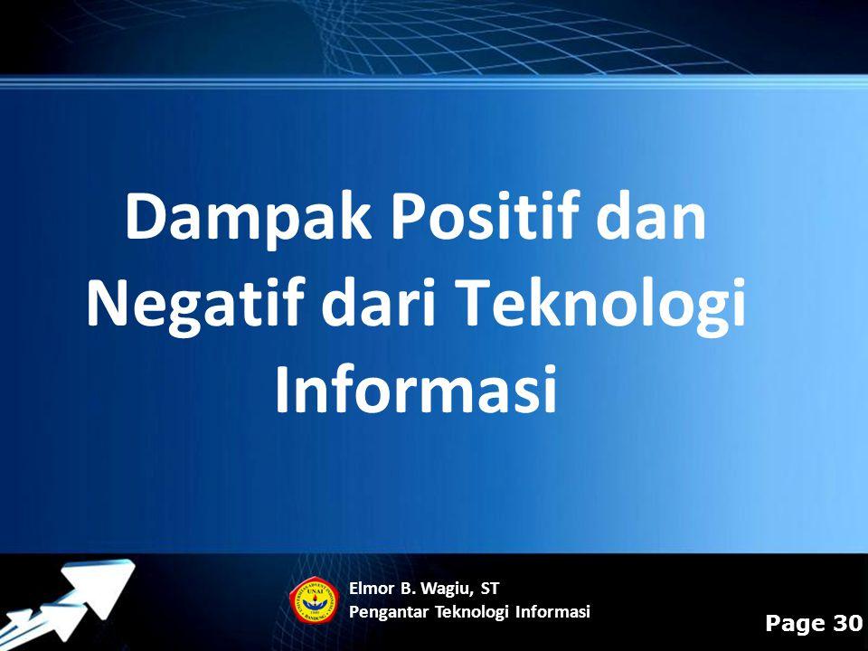 Dampak Positif dan Negatif dari Teknologi Informasi