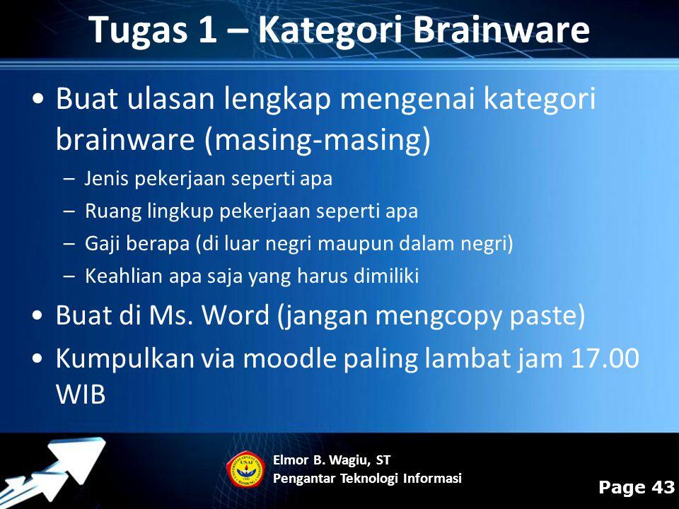 Tugas 1 – Kategori Brainware
