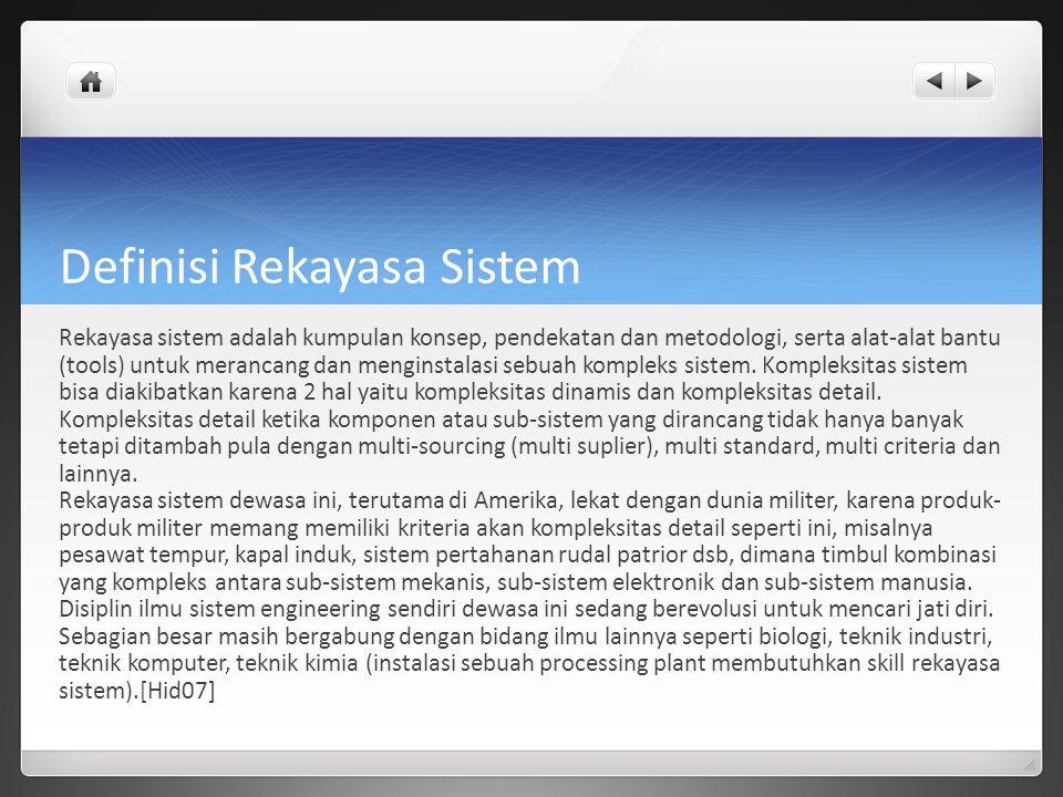 Definisi Rekayasa Sistem