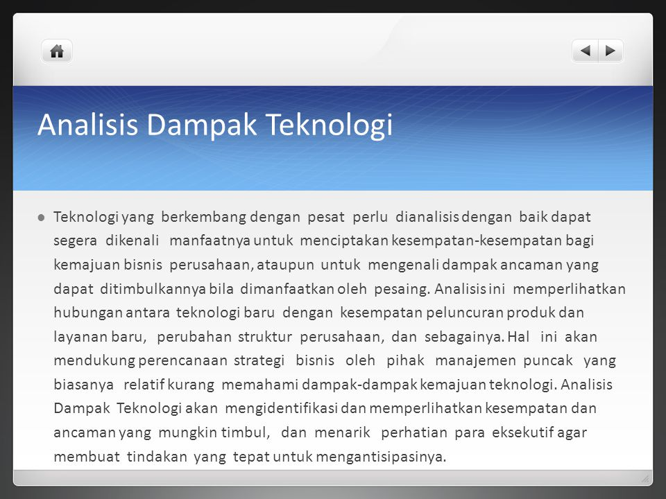 Analisis Dampak Teknologi