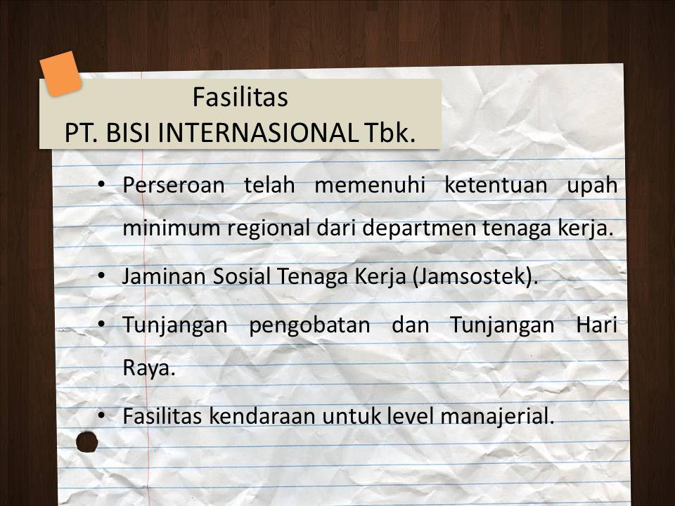 PT. BISI INTERNASIONAL Tbk.