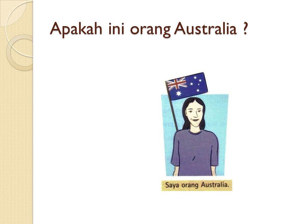 Apakah ini orang Australia