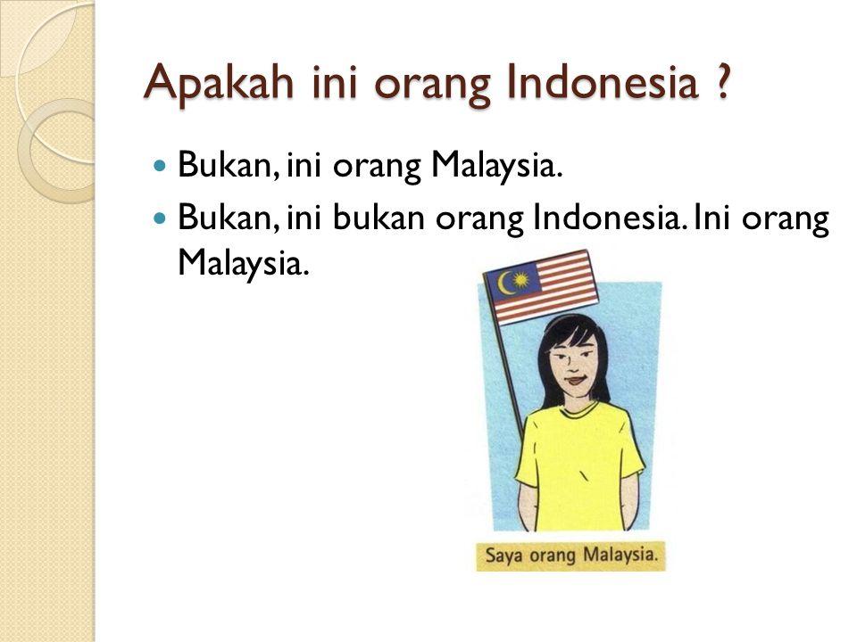 Apakah ini orang Indonesia