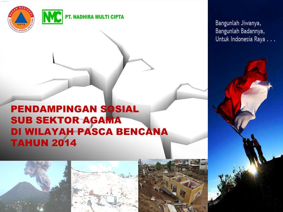 Pendampingan Sosial Sub Sektor Agama Di Wilayah Pasca Bencana Tahun 2014