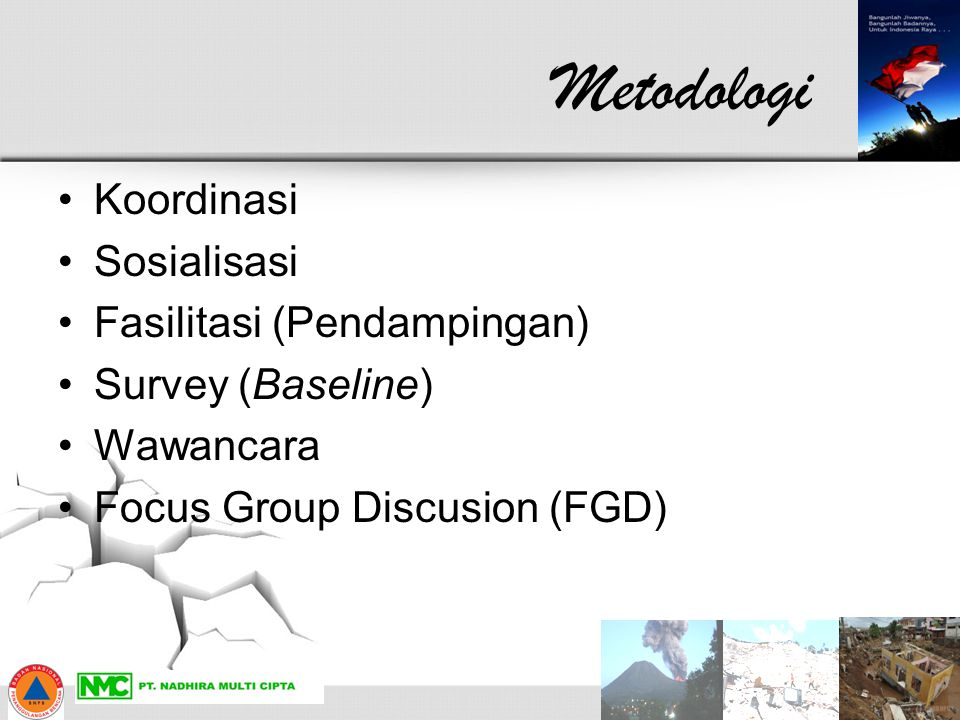 Metodologi Koordinasi Sosialisasi Fasilitasi (Pendampingan)