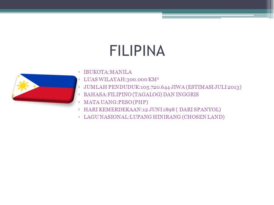 FILIPINA IBUKOTA:MANILA LUAS WILAYAH:300.000 KM2