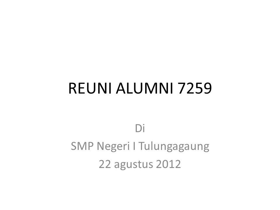 Di SMP Negeri I Tulungagaung 22 agustus 2012