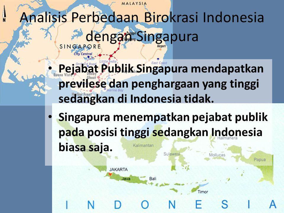 Analisis Perbedaan Birokrasi Indonesia dengan Singapura