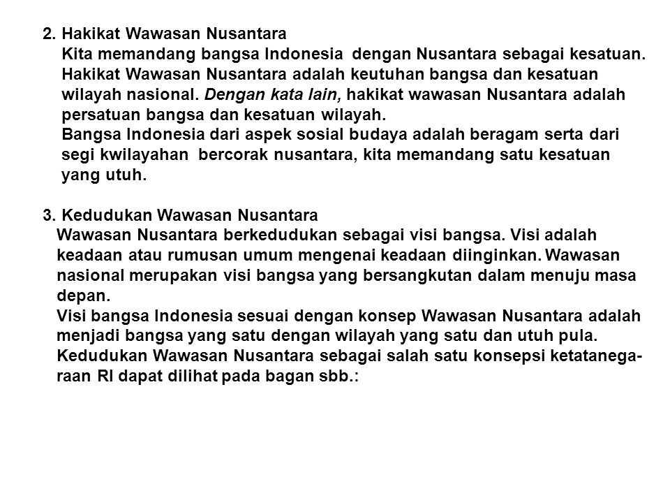 2. Hakikat Wawasan Nusantara
