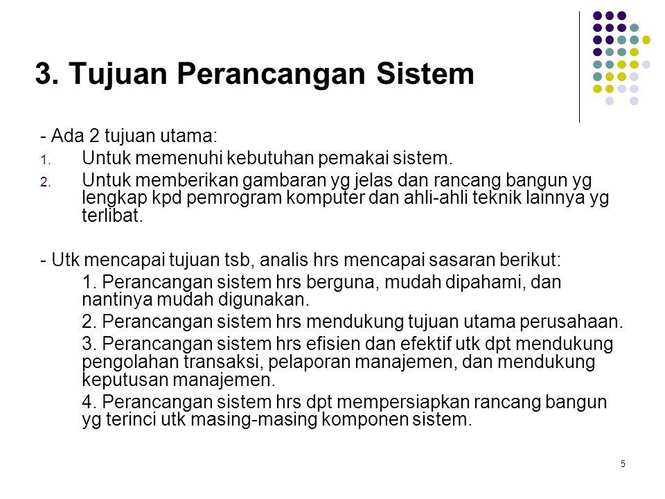3. Tujuan Perancangan Sistem
