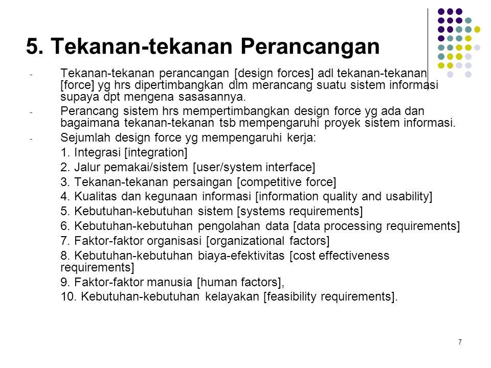 5. Tekanan-tekanan Perancangan