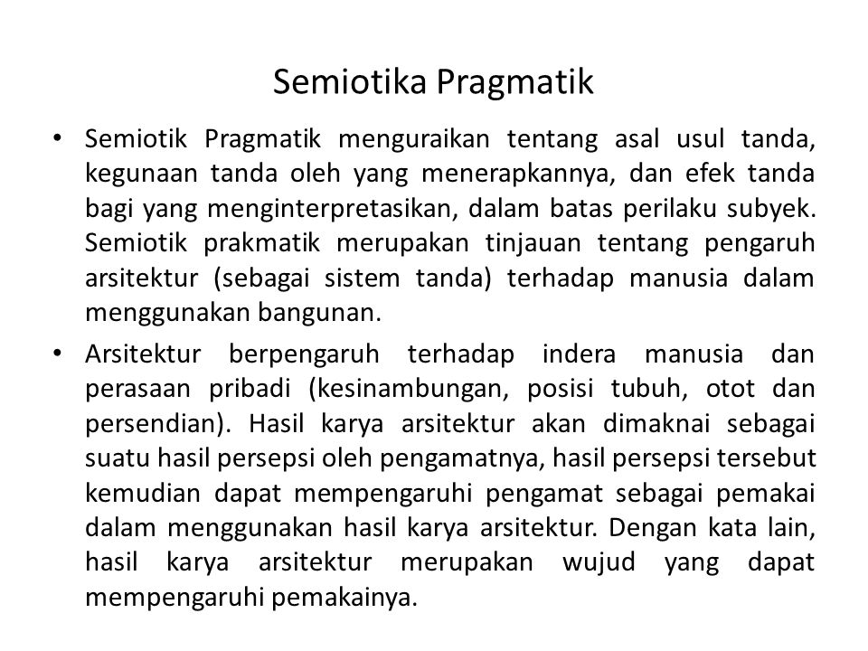 Semiotika Pragmatik