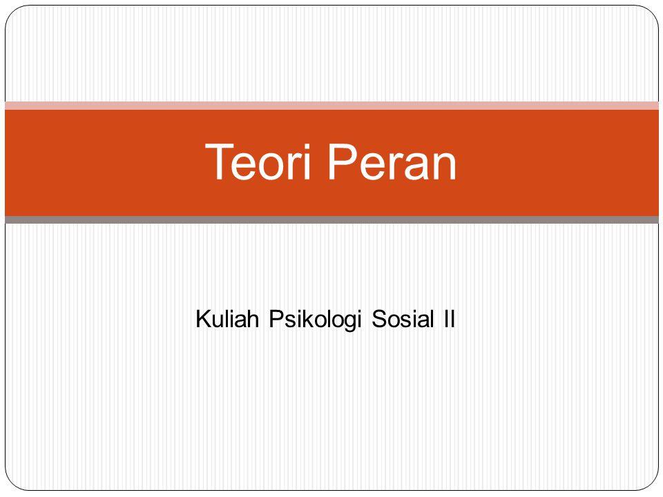Kuliah Psikologi Sosial II