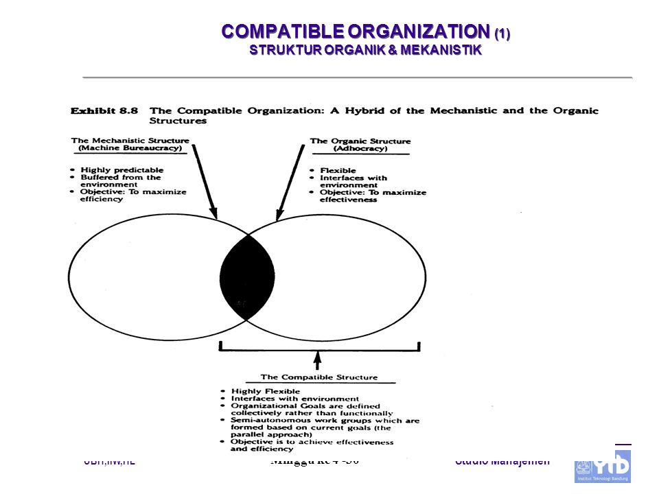 COMPATIBLE ORGANIZATION (1) STRUKTUR ORGANIK & MEKANISTIK