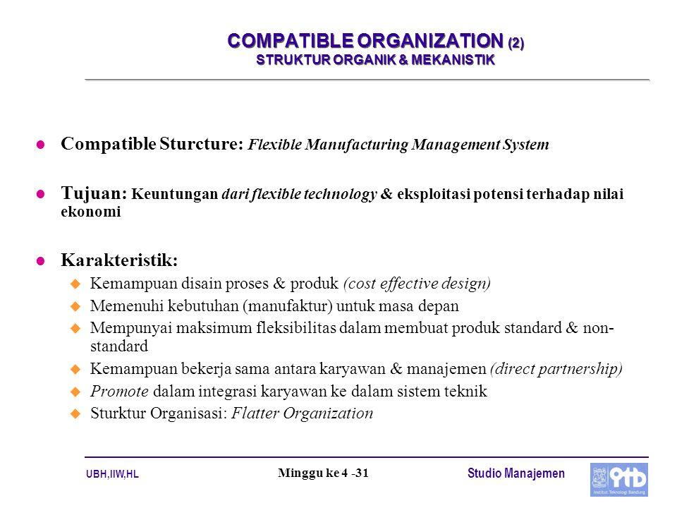 COMPATIBLE ORGANIZATION (2) STRUKTUR ORGANIK & MEKANISTIK