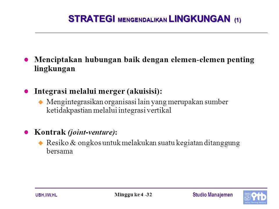 STRATEGI MENGENDALIKAN LINGKUNGAN (1)