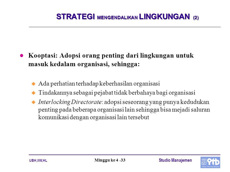 STRATEGI MENGENDALIKAN LINGKUNGAN (2)
