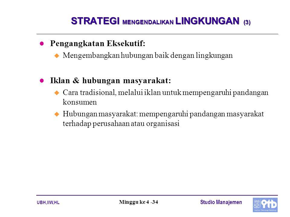 STRATEGI MENGENDALIKAN LINGKUNGAN (3)