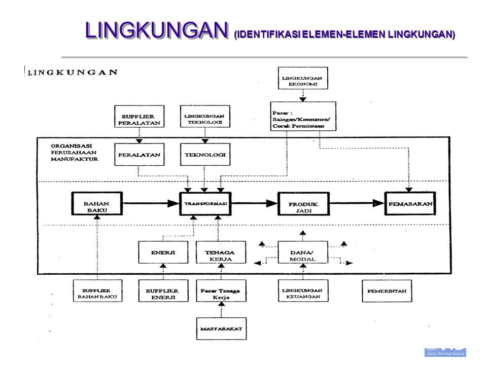 LINGKUNGAN (IDENTIFIKASI ELEMEN-ELEMEN LINGKUNGAN)
