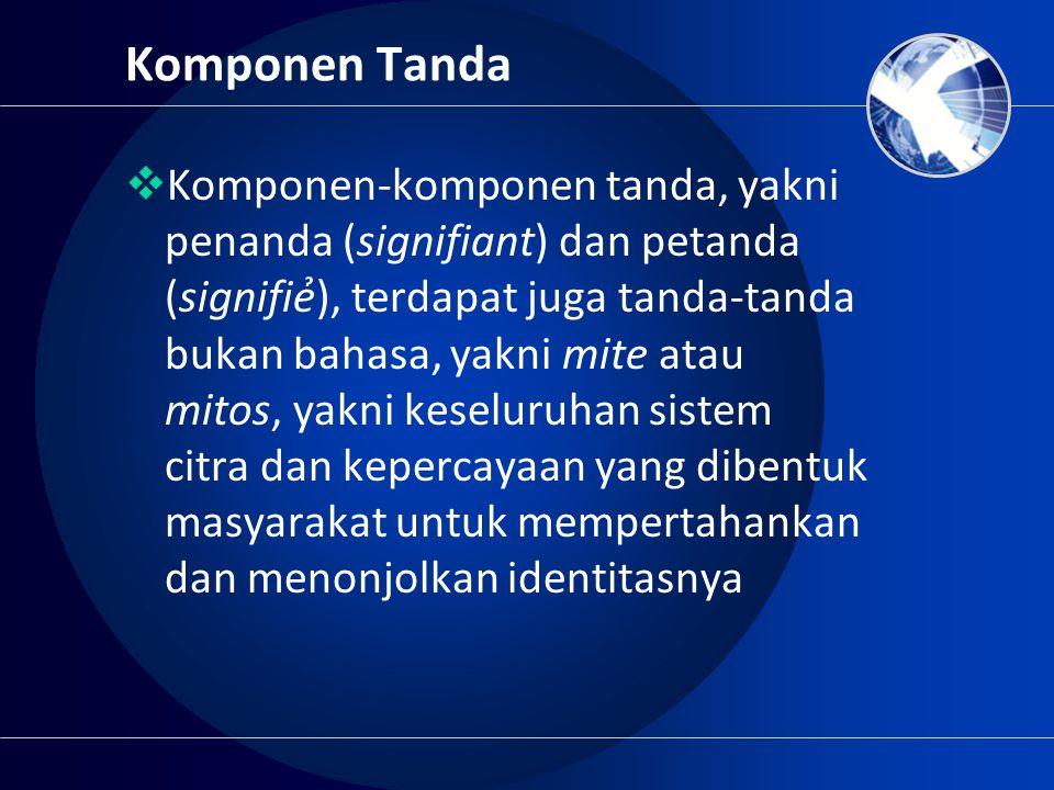 Komponen Tanda
