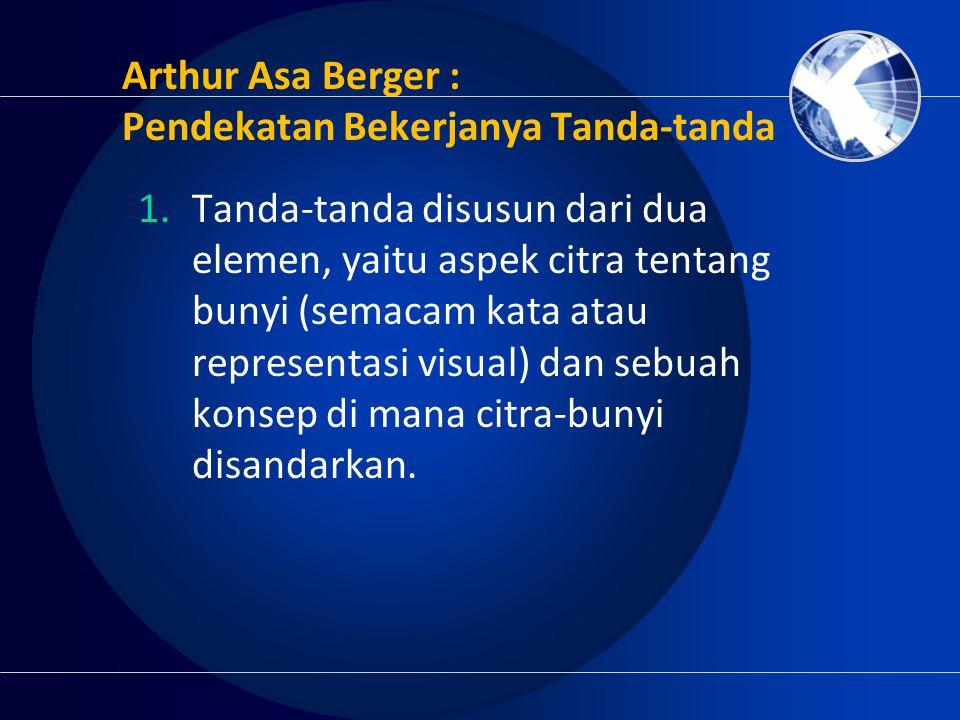 Arthur Asa Berger : Pendekatan Bekerjanya Tanda-tanda