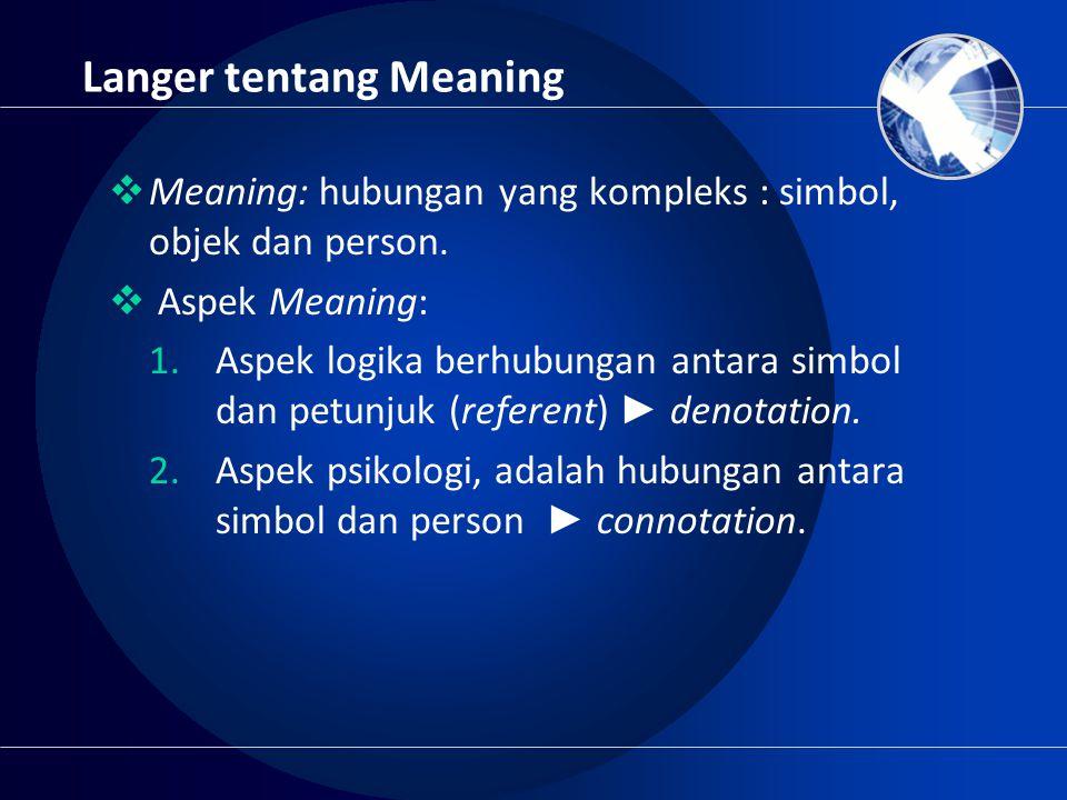 Langer tentang Meaning