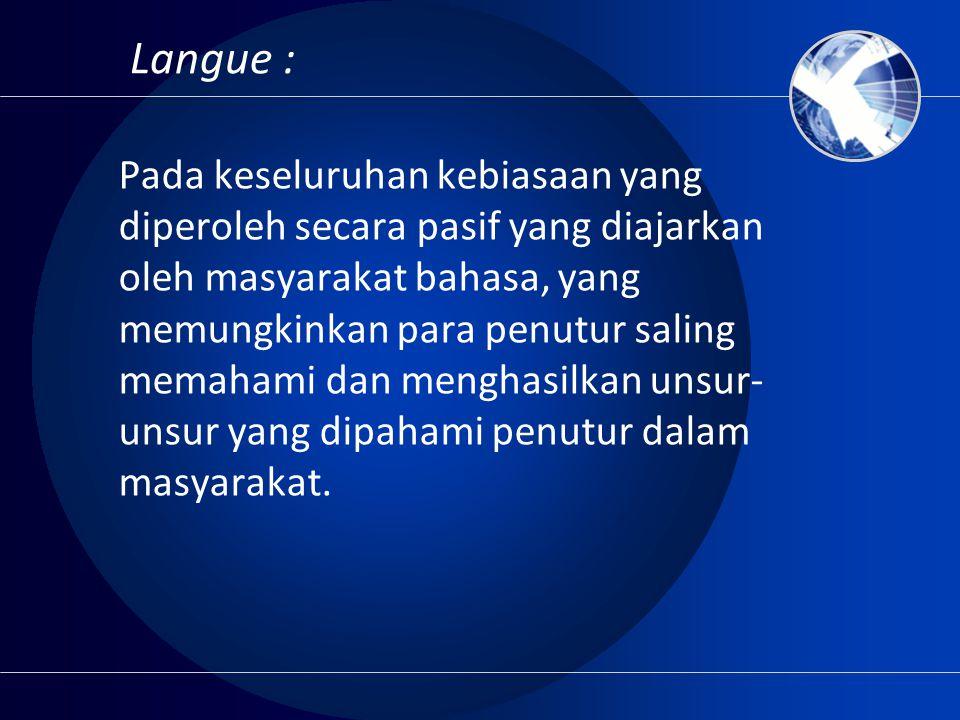 Langue :