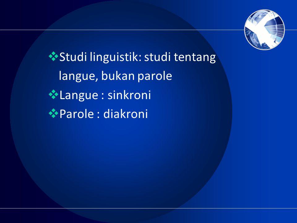 Studi linguistik: studi tentang