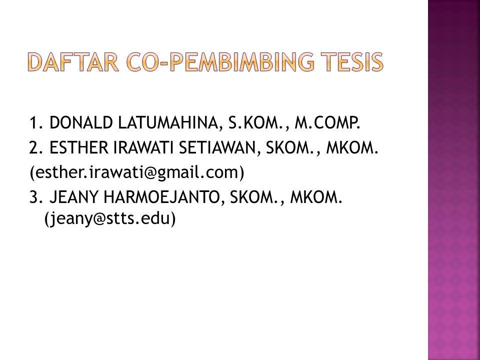 DAFTAR CO-PEMBIMBING TESIS