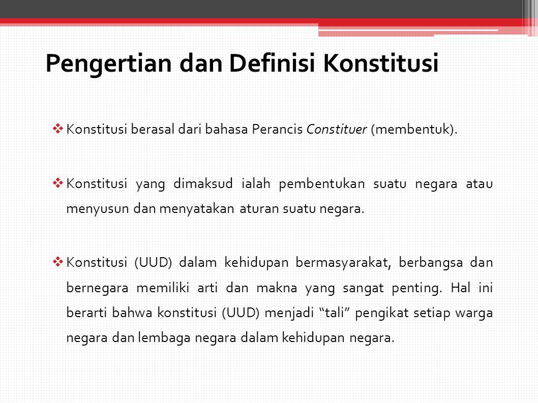 Pengertian dan Definisi Konstitusi