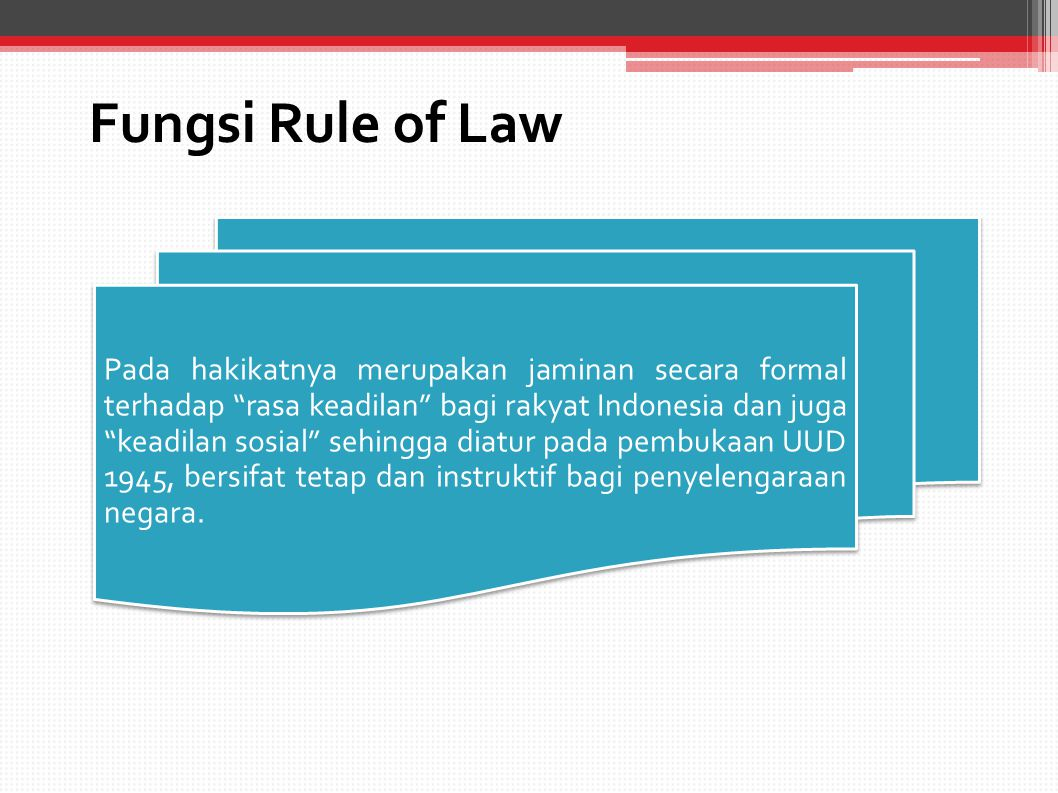 Fungsi Rule of Law