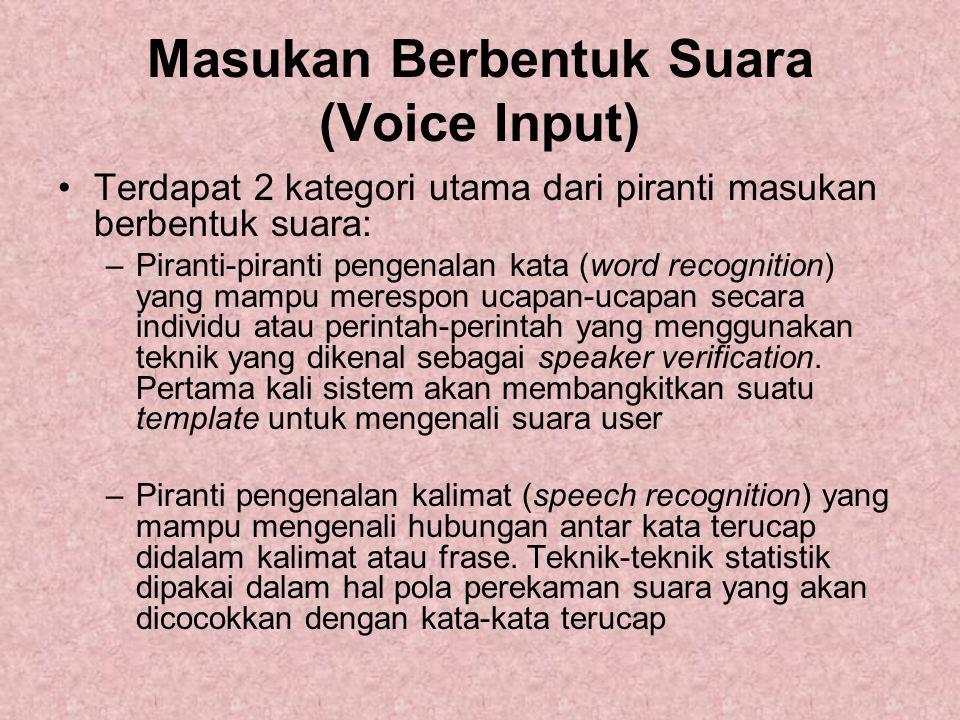 Masukan Berbentuk Suara (Voice Input)