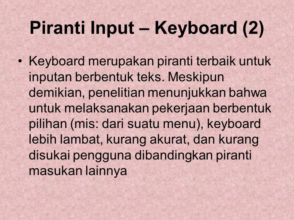 Piranti Input – Keyboard (2)