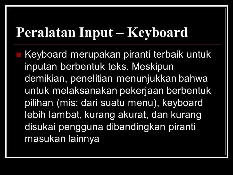 Peralatan Input – Keyboard