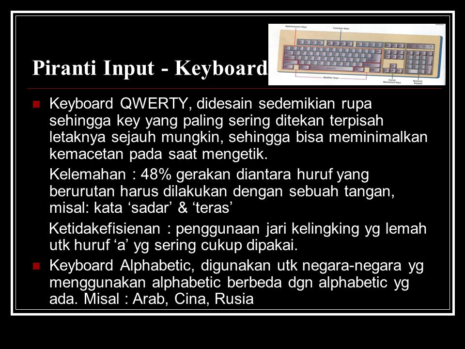 Piranti Input - Keyboard